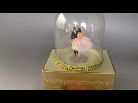 VINTAGE REUGE DOUBLE DANCING BALLERINA Mechanical WIND UP MUSIC BOX