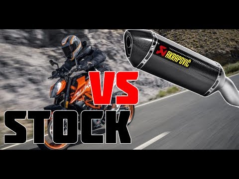 ktm duke 125 2018 akrapovic with without db killer vs. Black Bedroom Furniture Sets. Home Design Ideas