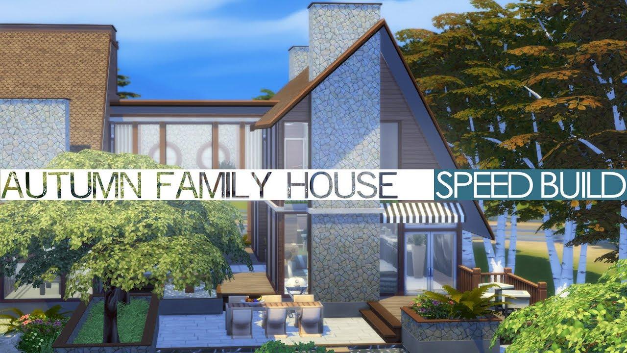 The Sims 4 Speed Build - AUTUMN FAMILY HOUSE
