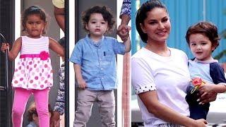Sunny Leone Kids Nisha, Asher, Noah Cutely Posing For Media