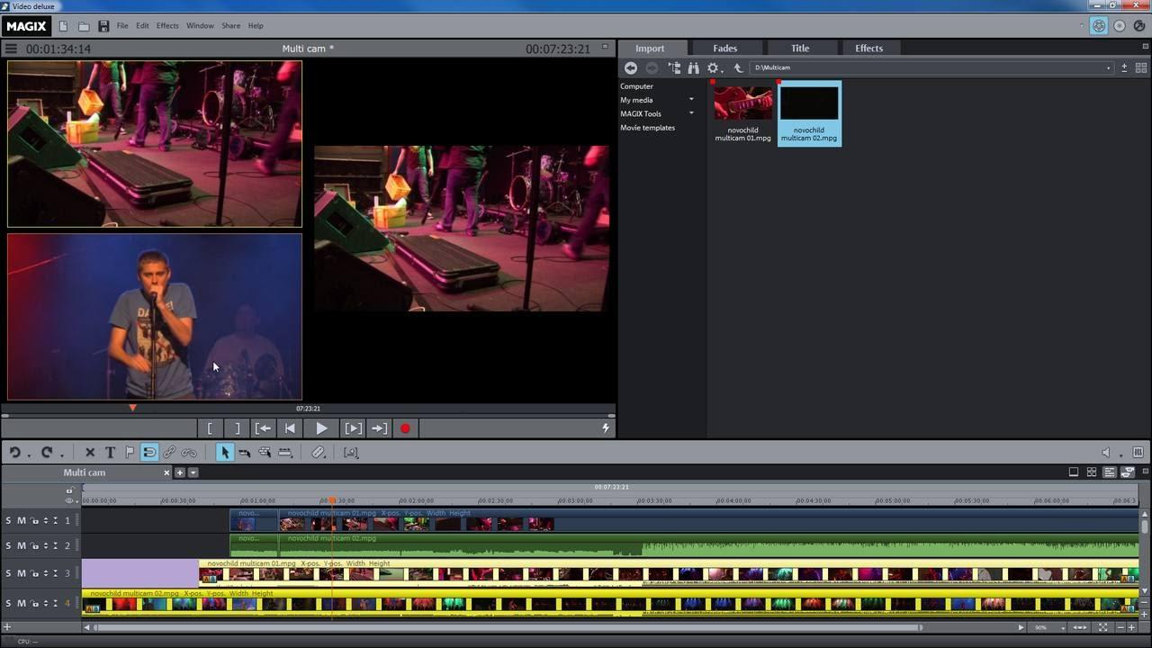 Magix Movie Edit Pro 2016 Multicam Mode Tutorial Int Youtube