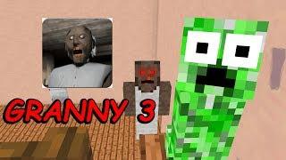 Monster School : GRANNY HORROR GAME CHALLENGE 3 - Minecraft Animation