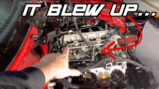 THIS IS HOW THE ENGINE BLEW IN MY 2019 TWIN TURBO MUSTANG. EPIC FAIL