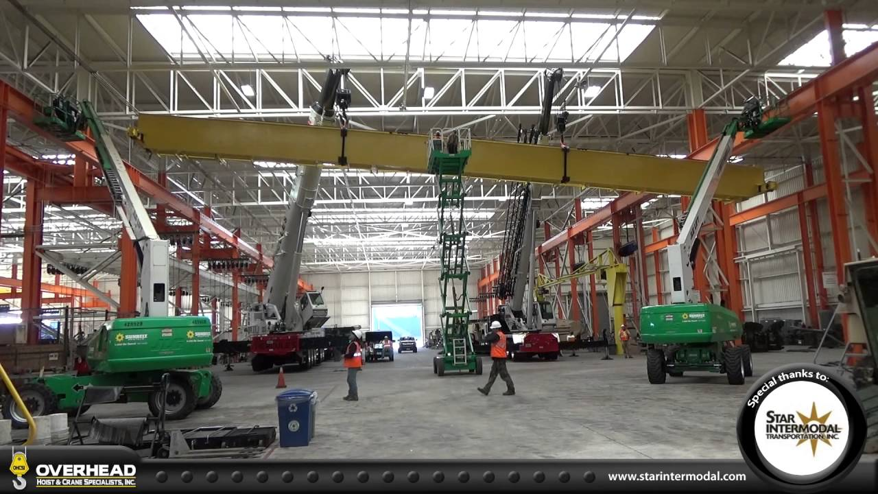 Raising Box Girder Bridge Beam for 50 ton capacity overhead crane ...