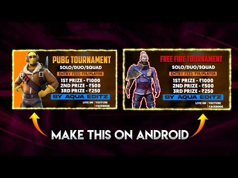 Make Pubg And Free Fire Tournament Poster Pubg And Free Fire Tournament Poster On Android Youtube