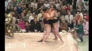 Tochinowaka vs. Akebono : Haru 1992 (栃乃和歌 対  曙)
