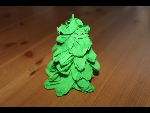 C mo hacer un rbol de navidad de papel crep facilisimo - Arboles de navidad ...