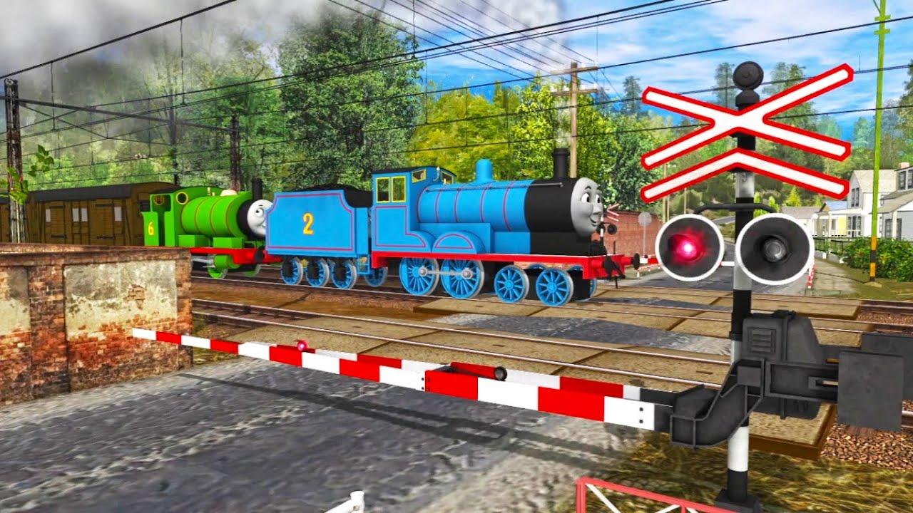 Alarm Unik Perlintasan Kereta Api Edward & Percy (Thomas And Friend) : Kompilasi Perlintasan Eps 142