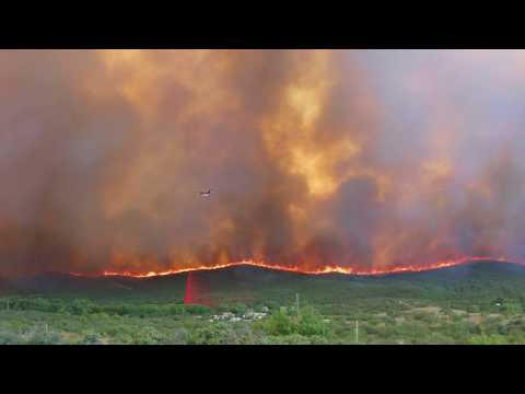State Hazardous Fuels Mitigation Projects Help Save Mayer, Arizona from the Goodwin Fire