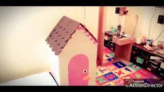 DIY Cardboard Playhouse for Kathlyn