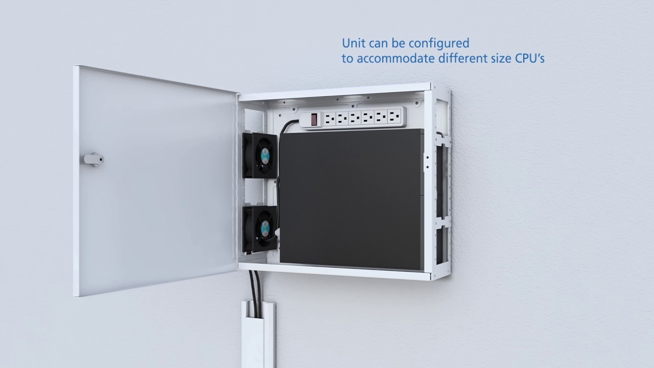 Multi Purpose Cpu Wall Mount Cabinet Enclosure Youtube