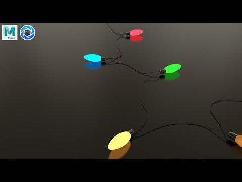 3D Modeling tutorial : X-Mas Lights