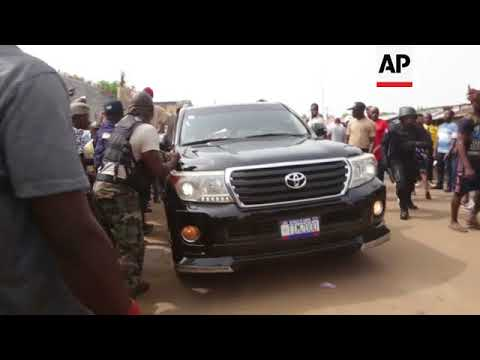 Candidates cast their ballot in Liberia presidential election