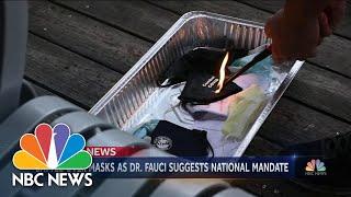 Mask Debate in U.S. Rages On | NBC Nightly News