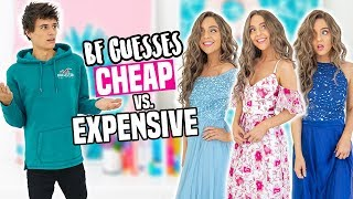 BOYFRIEND GUESSES CHEAP vs. EXPENSIVE PROM DRESSES!
