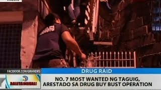 No. 7 most wanted ng Taguig, arestado sa drug buy bust operation