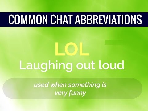 Common Chat Abbreviations Chatting Shortcuts Youtube