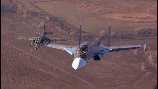 Russia's Su-25 & Su-34 fly together in stunning close-up video