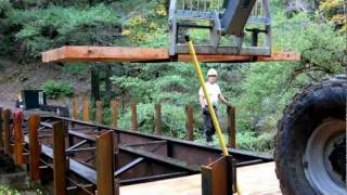 Yard King Reconstructs Mule Creek Bridge