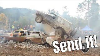 Pathfinder destruction! Check out this '91 Nissan get destroyed!