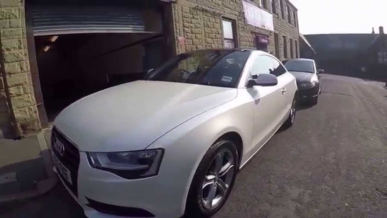 Audi A5 Avery Satin Pearl White Wrap Youtube