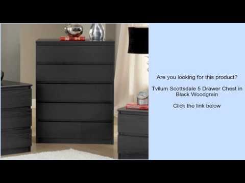 Tvilum Scottsdale 5 Drawer Chest In Black Woodgrain Youtube
