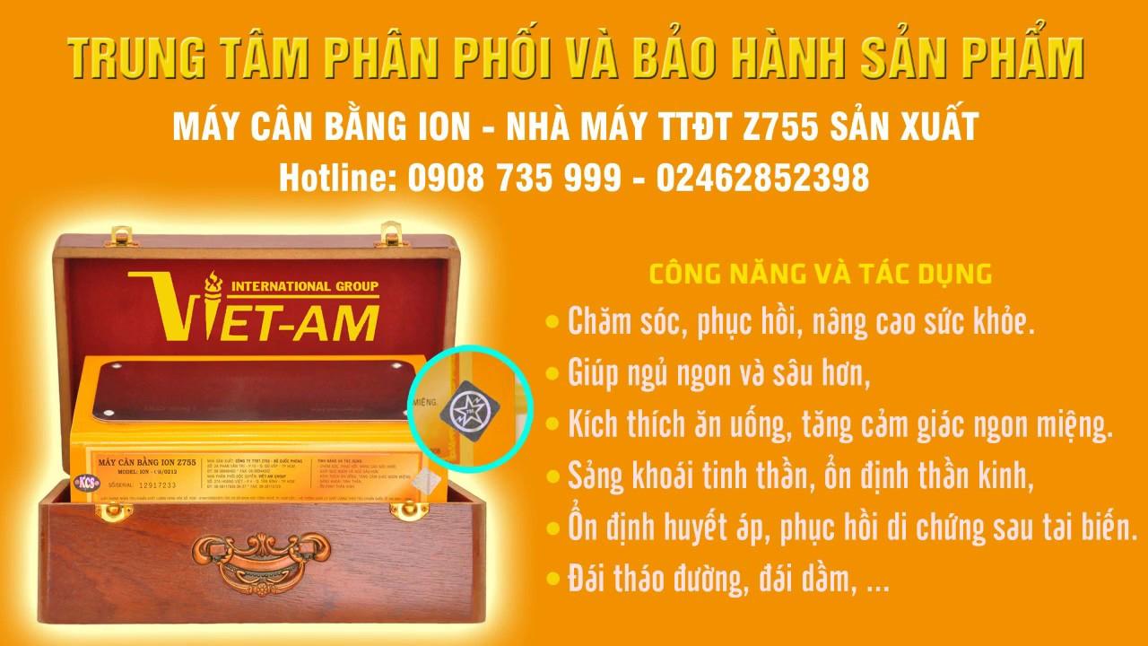 Truyền hình Việt Nam Nói Về Công Nghệ Máy cân bằng ion