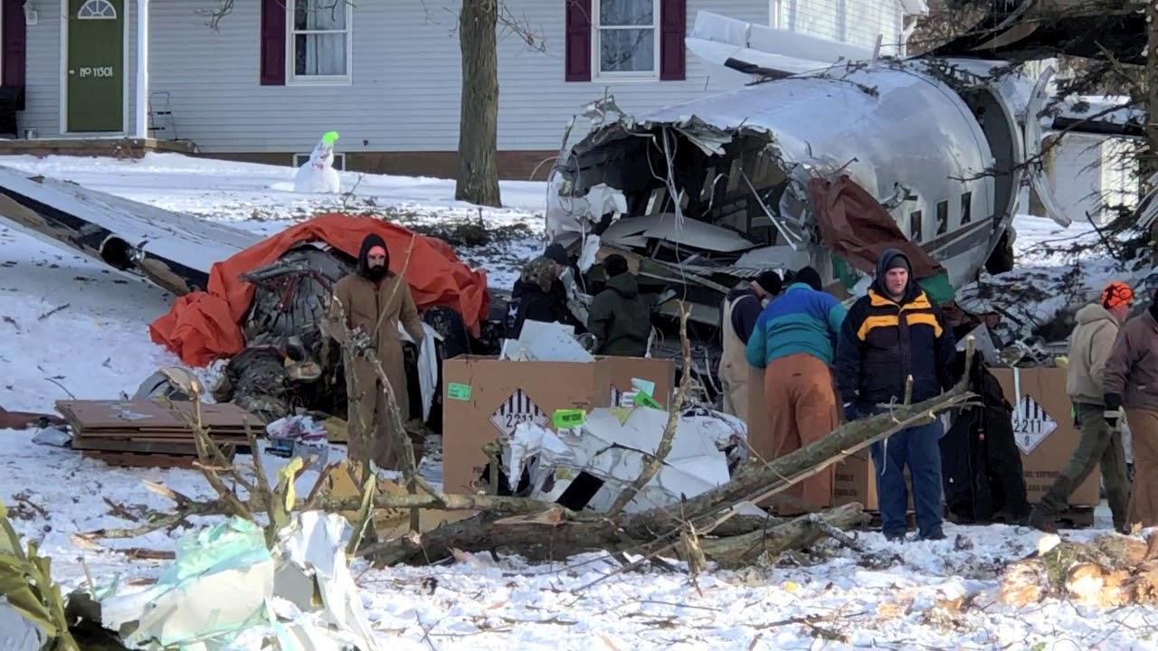 Fatal airplane crash clean up