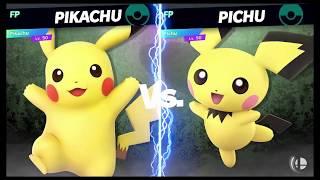 Super Smash Bros Ultimate Amiibo Fights   Request #9923 Pikachu vs Pichu