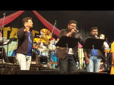 S.S.Thaman first live concert in US. Charlotte, NC.- Guruvaram March Okati song from Dookudu