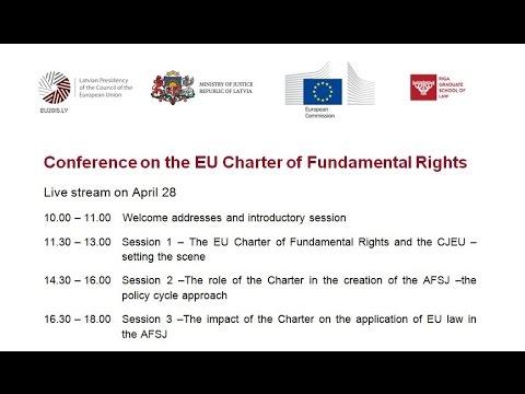 Konference par ES Pamattiesību Hartu 1.diena