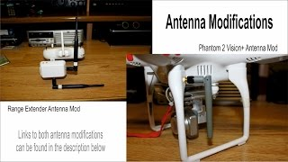 DJI Phantom 2 Vision+ New Antennas for 2.4GHz & Distance Test Flight