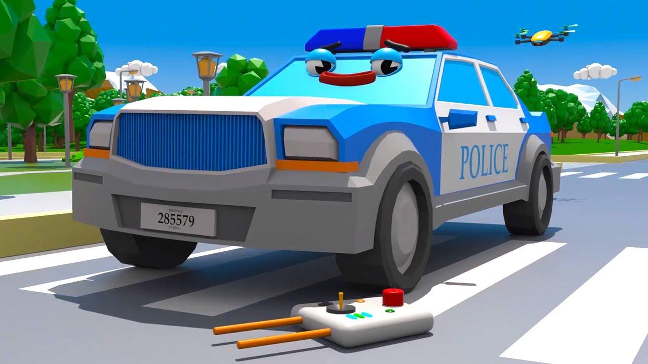 Voiture de Police et Cadeau surprise Cars Town - Dessins animés pour les enfants