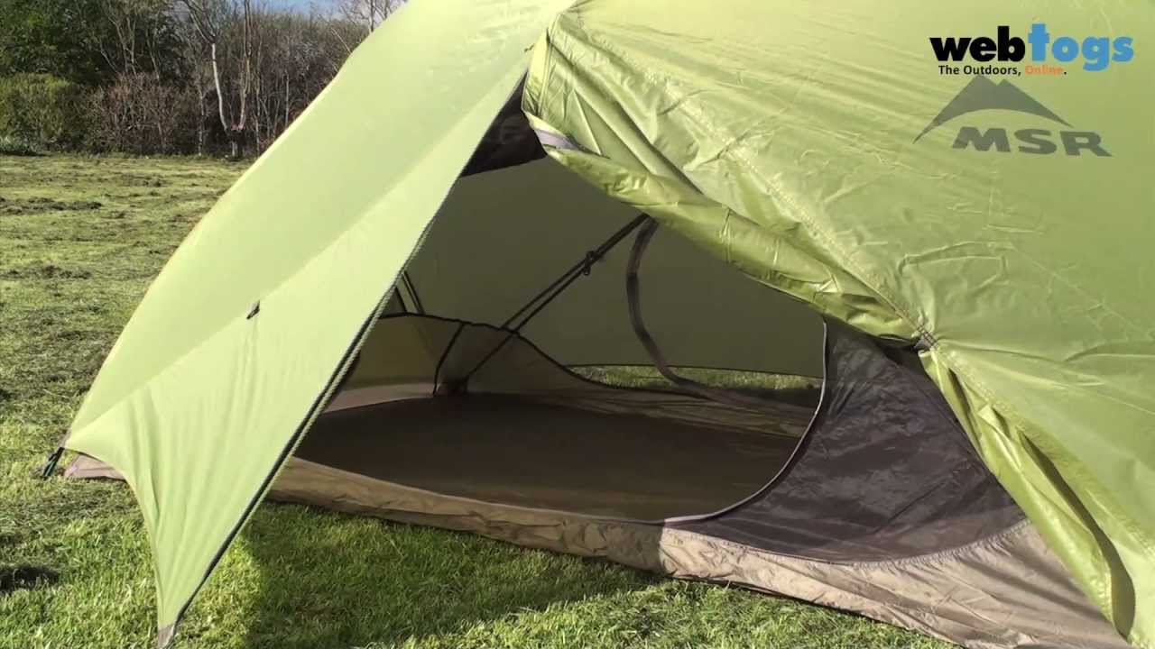 MSR Hubba Hubba 2 Person Tent - strong roomy and lightweight backpacking tent. - YouTube : one person tents backpacking - memphite.com