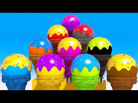Thumbnail: Learning Colors with NEW 3D Cone Ice Cream for Children