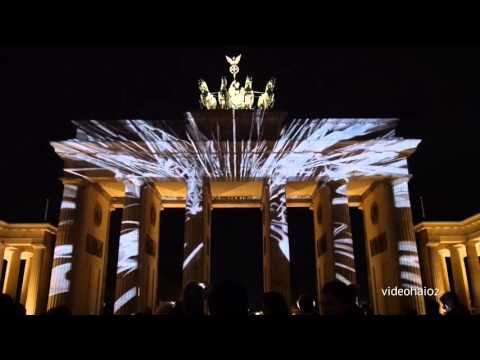 2   Festival of Light Berlin 2015 die Brandenburger Tor Show Part 2