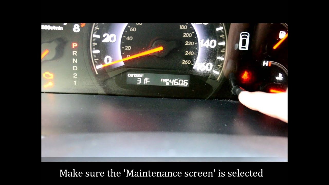 How To Reset the Maintenance Light on a 2005 - 2010 Honda ...