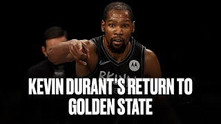 Kevin Durant Returns To Golden State For First Time