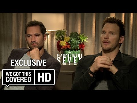 Exclusive Interview: Chris Pratt and Manuel Garcia-Rulfo Talk The Magnificent Seven [HD]