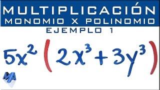 Multiplicación de expresiones algebraicas | Monomio por polinomio | Ejemplo 1