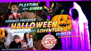Springs Preserve Haunted Harvest Halloween Adventure - Playtime with Ayden - UNCUT - Vlog #12