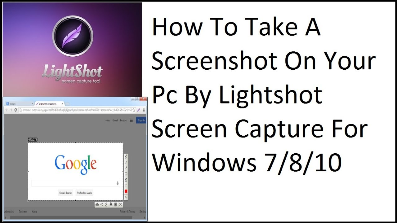 How To Take A Screenshot On Your Pc By Lightshot Screen Capture for Windows  7/81/0