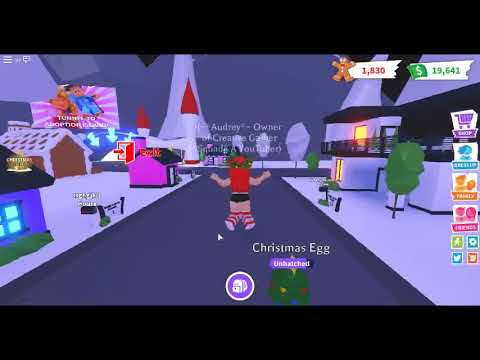 HATCHING THE FIRST CHRISTMAS EGG! In Adopt Me! - YouTube