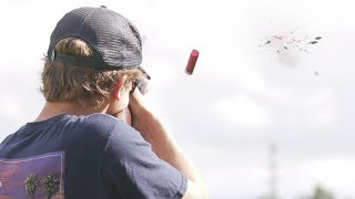 Clay Pigeon Challenge (skeet long shot)