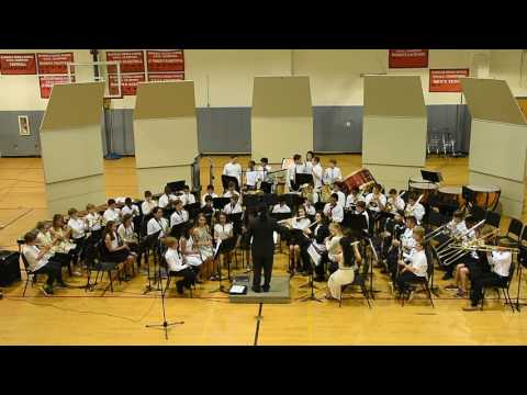 """McDougle Middle School 6th Grade Band Performs """"Chase Through the Midnight Forest"""""""