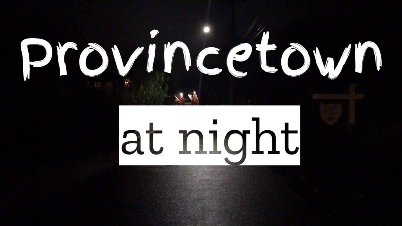 4К | Provincetown at night | Провинстаун ночью | Путешествие по Америке.