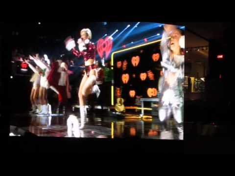 Lindsay Lohan Introduces Miley Cyrus Party In The USA Z100 Jingle Ball MSG LIVE 12/13/2013