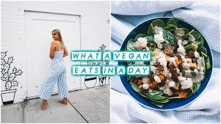 WHAT I EAT IN A DAY // Easy & Creative Vegan Recipes 🤤🍑