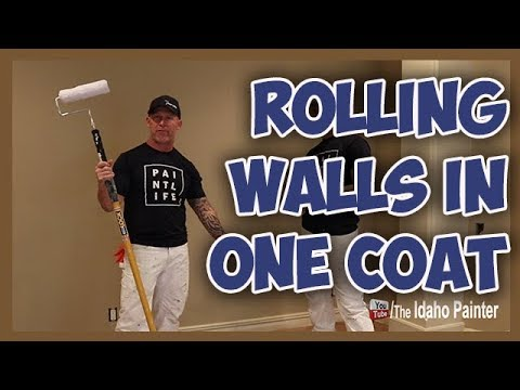 How To Paint In One Coat.  Painting Walls In One Coat Like A Pro.