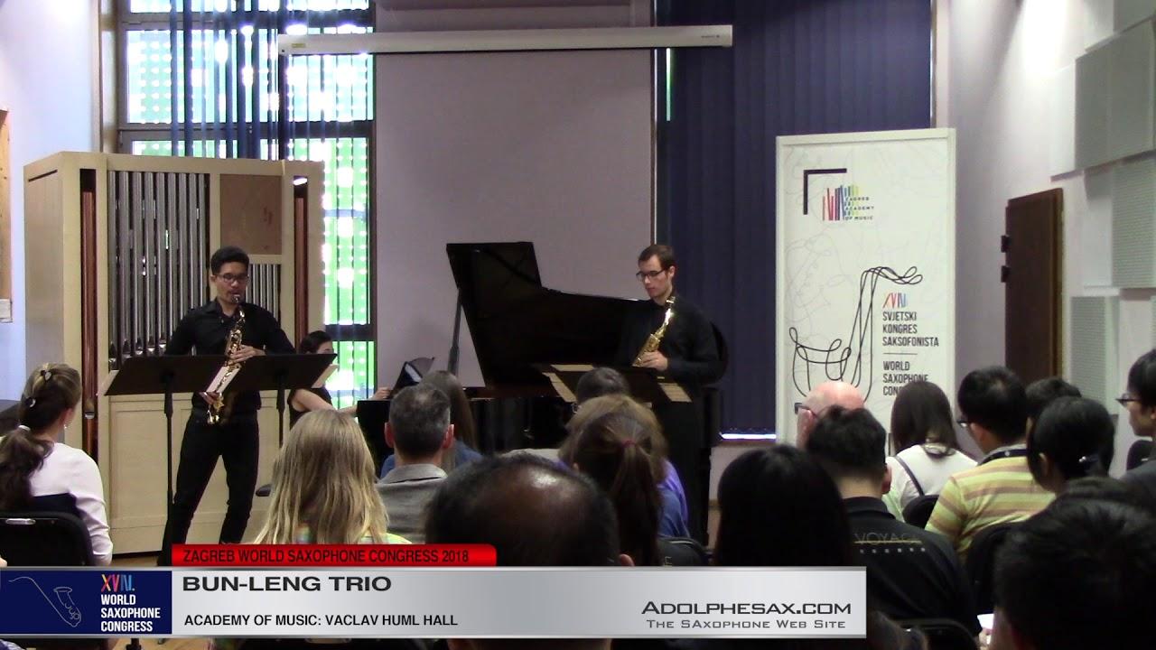 Lombric Biophonie 1 by Franc?ois Rosse?    Bun Leng Trio   XVIII World Sax Congress 2018 #adolphesax